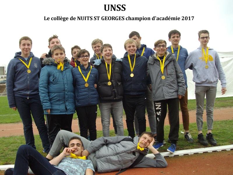 UNSS: le collège de Nuits St Georges