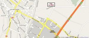 Plan d'accès au stade via google map